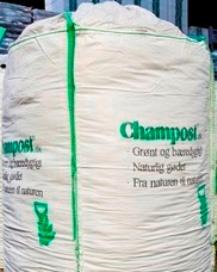 Champost - BigBags, leveres fragtfri indenfor det landfaste Danmark